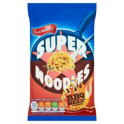 Batchelors Super Noodles BBQ BEED  Flavour Full Case of 8 x 100g