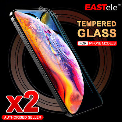 iPhone 11 Pro Max XS Max XR X - 2X Tempered Glass Screen Protector For Apple