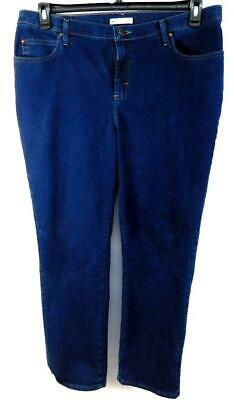 Lee blue denim embroidered pockets at the waist relaxed fit jeans 18W Medium