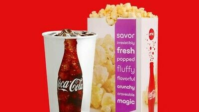 AMC Theaters (1) Large Drink and (1) Popcorn Voucher || E-Delivery