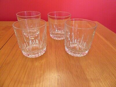 Vintage Arcoroc Whiskey Tumblers Glasses - Set Of 4, made in France