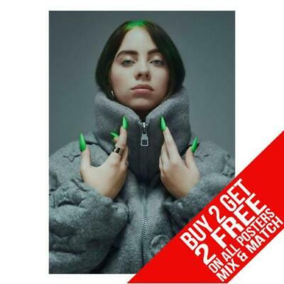 Billie Eilish Cc6 Poster Art Print A4 A3 Size - Buy 2 Get Any 2 Free