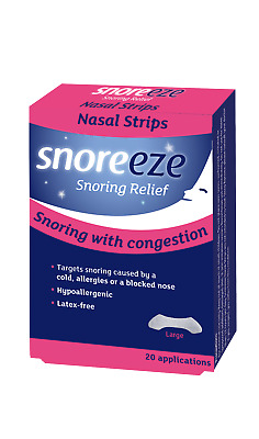 Snoreeze Snoring Relief Nasal Strips Size Large x20