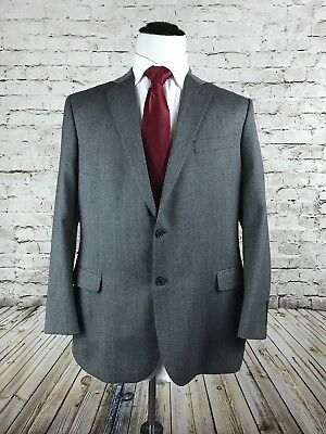 Brooks Brothers Charcoal Gray Two Button Sport Coat Size 44R Nailhead Fitzgerald