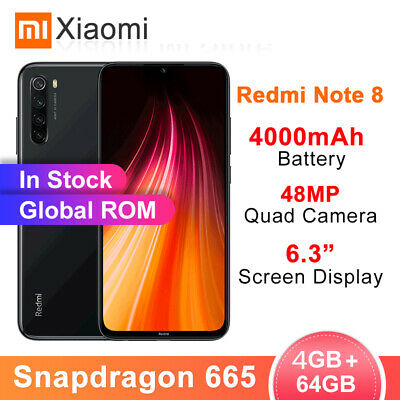 Xiaomi Redmi Note 8 Global Version 4+64GB Dual Sim Octa Core Smartphone Mobile
