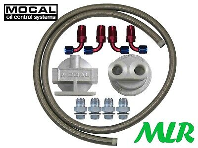 Mocal 3/4 13/16Unf M18 M20 -8Jic Braided Hose Remote Oil Filter Relocation Kit