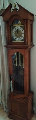Long case grandfather clock, handmade, pendulum driven