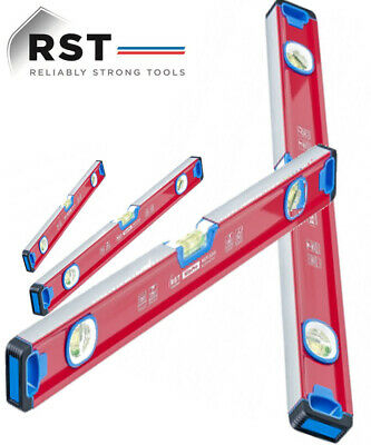 RST New Builder Sprit Levels SitePro Heavy Duty 25,60,120&180cm Shock proof 4pc