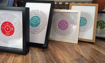 ANY SONG record personal FRAMED print | 1st Anniversary Paper, Wedding Present