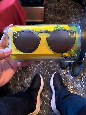 Brand New Spectacles Snap Smart Phone Camera Glasses for Snapchat Black Sealed