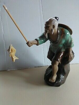 Chinese Mudman Fisherman Ornament