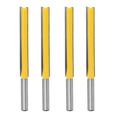 """4pcs 3"""" Long Flush Trim Router Bit Cutting Slotted 8mm Shank for Worktop"""