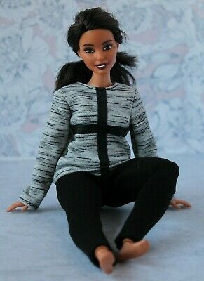Blouse and Leggings for Dolls. №049 Clothes for Curvy Barbie Doll