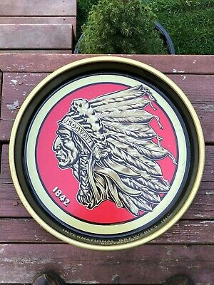 VINTAGE IROQUOIS INDIAN HEAD BEER TRAY BUFFALO NEW YORK International Breweries