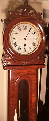 "Antique Mahogany "" Month Regulator""  Blackpool   Longcase / Grandfather Clock"