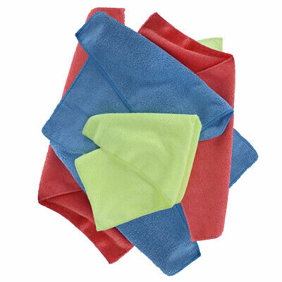 Oxford Microfibre Moto Motorcycle Bike Towels Blue / Yellow / Red - Pack Of 6