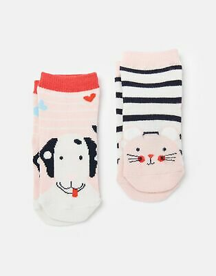 Joules Baby Girls Neat Feet 2 Pack Character Socks - MULTI MOUSE DOG