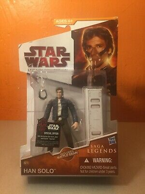 Star Wars The Legacy Collection Sandstorm Han Solo 4in Action Figure build a dro