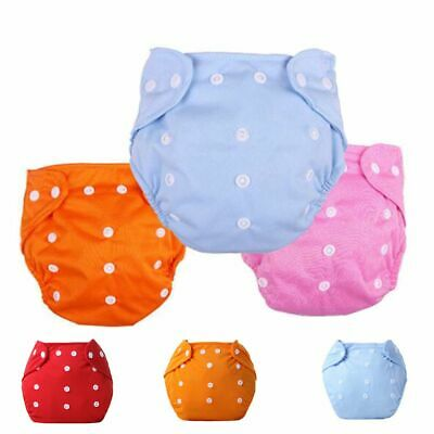 Soft Adjustable Washable Cute Cotton Pocket Nappy Washable Cloth Baby Diaper