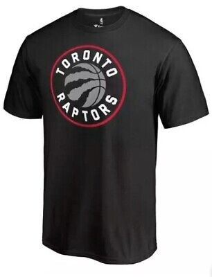 Toronto Raptors Fanatics Branded Primary Logo T-Shirt - Black - Small size