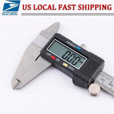 0-200mm Stainless Steel Electronic Digital LCD Vernier Caliper Gauge Micrometer