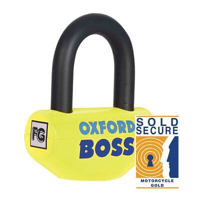 Oxford Boss SRA Approved Moto Motorcycle Bike Disc Lock Yellow - 14 MM
