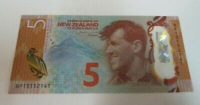 2020 - New Zealand Five / 5 Dollar - Polymer Note - BP15152141 - Uncirculated