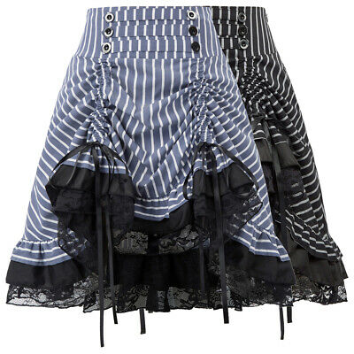 Waist Skirt Bow-Knot Decorated Adjustable Cotton Concealed zipper Decoration