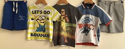 Boys Summer Bundle Clothes Age 5-6 Next Dispicable Me Disney Chino * <H7871