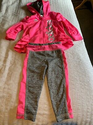 Adidas Girls /kids/baby Pink Tracksuit Size 12 Months