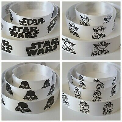 Star Wars Ribbon, 25mm Wide Ribbon. Available in 4 Designs & various Lengths