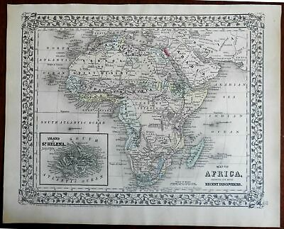 African Continent Recent Discoveries Cape Colonies 1872 Mitchell map