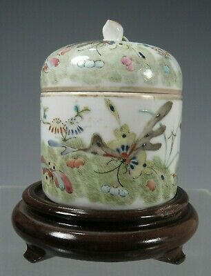 Fine China Chinese Lidded Porcelain Round Box Qing Tongzhi Reign ca.1862-1874