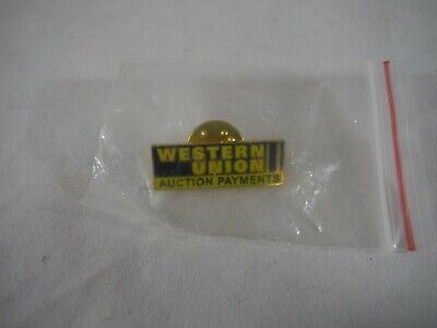 Ebay Western Union Auction Payments Pin Charm Gold Tone