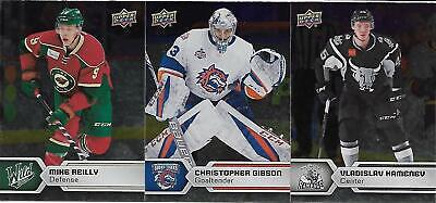 2017-18 Upper Deck AHL Hockey - Lot of 3 Silver Parallel Cards - #55, 88 & 119