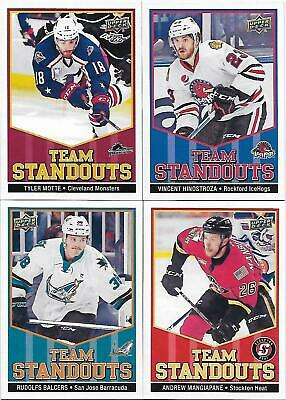 """2017-18 Upper Deck AHL Hockey """"Team Standouts"""" - Lot of 4 Inserts"""
