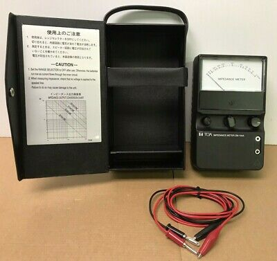 TOA ZM-104A Corporation Electric Speaker Audio Impedance Ohm Meter Tester -Japan
