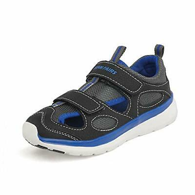 DREAM PAIRS Boys Girls Breathable Sneakers, 181107/Black/Grey/Blue, Size 8.0 340
