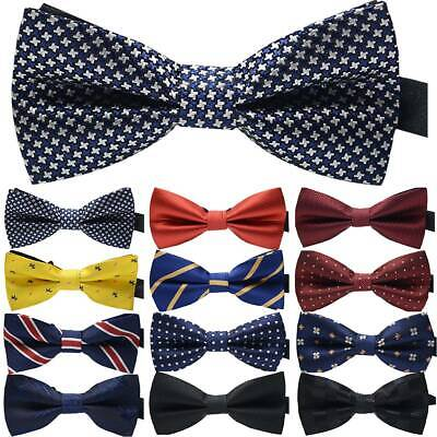 23 Styles Adjustable Men Bow Ties Neck Clip-on Satin Dickie Fancy Dress Wedding
