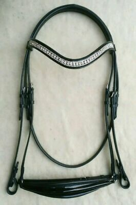 Elite Equest - 3 Rows Crystal Horse Browband - LCT + Pearl + All Clear