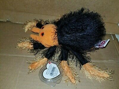 "Ty Beanie Baby ""SKITTERS"" Spider With Suction Cup."