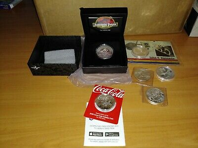 Limited Edition Silver Coin Lot ( 6 Oz Of Silver Coca Cola/Dragons/Jurassic)