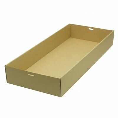 NEW Brown/Kraft Cardboard Large Catering Tray - 252mm - 79mm - CARTON(50)