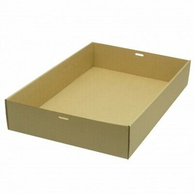 NEW Brown/Kraft Cardboard Extra Large Cater Trays - 310mm - 80mm - CARTON(50)