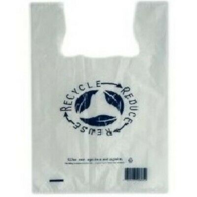 NEW Clear Plastic Re-Usable Carry Bags - 240mm - 450mm - Medium - PACKET(100)