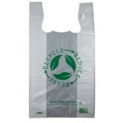 NEW Clear Plastic Re-Usable Carry Bags - 300mm - 540mm - Large - PACKET(50)