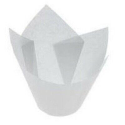 White Parchment Muffin Papers Suit Muffin6 - 55mm base - 60mm - 90mm - 110ml