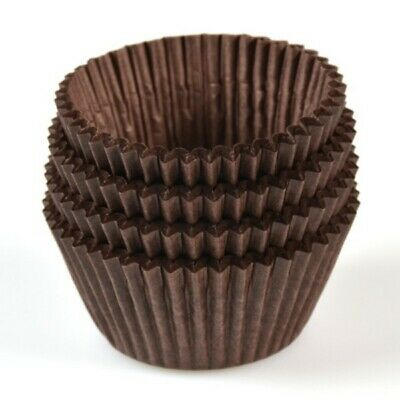 NEW Brown Paper Patty Pans - 68mm - 20mm - PACKET(500) - Kent Paper