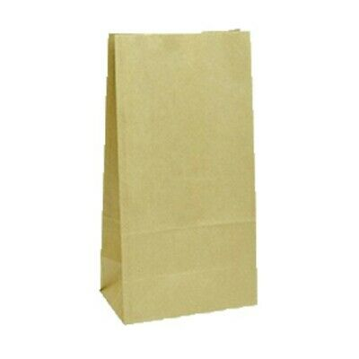 NEW Kraft Paper Bags - 180mm - 115mm gusset - CARTON(1000) - Kent Paper