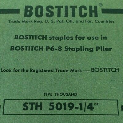 Full Box of 5000 Bostitch Staples for P6-8 Stapling Pliers